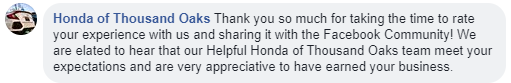 example customer review
