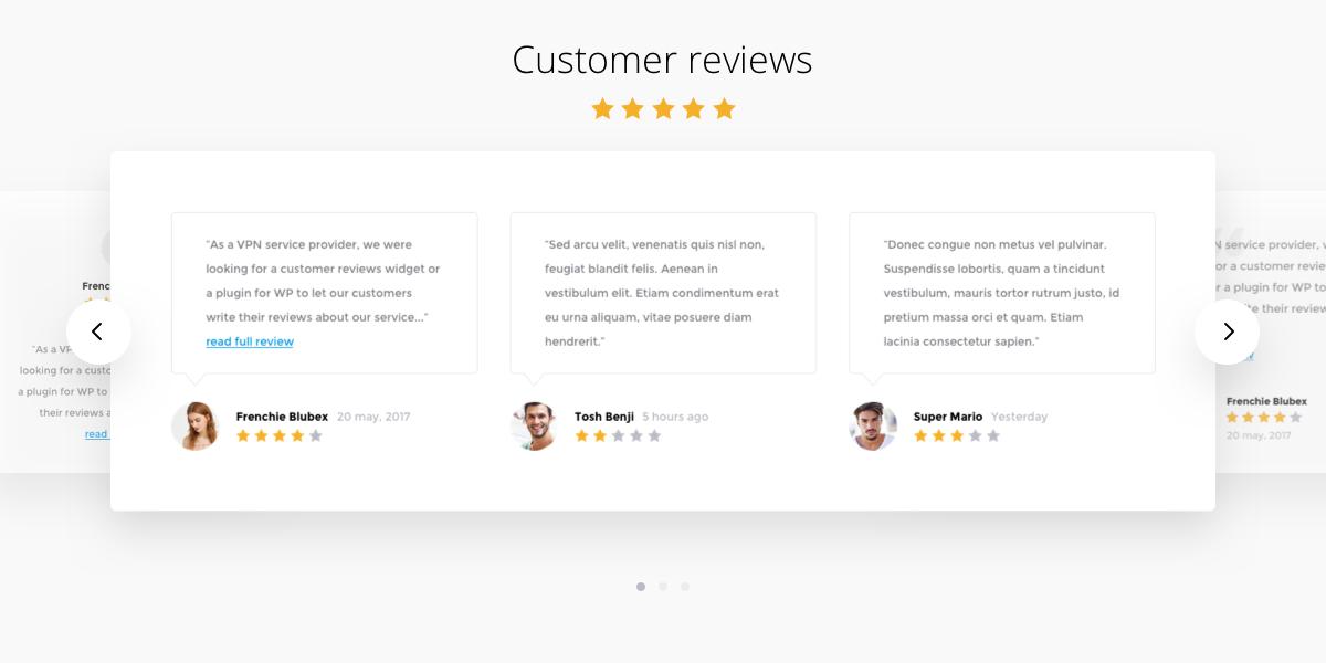 Reviews Carousel
