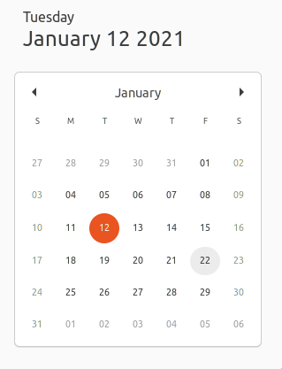 A date highlighted on a calendar