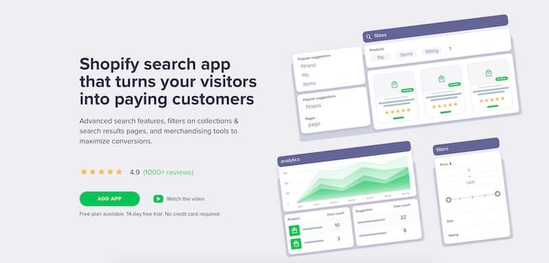 Smart Search & Instant Search helps you create a guided customer experience across all touchpoints of product search & discovery journey and maximize your store conversion.