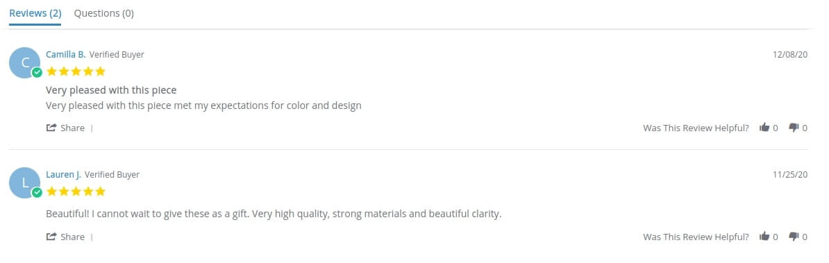 Luca+Danni product reviews layout