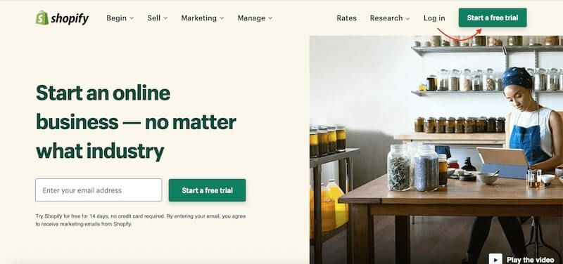 Build your one-product store on Shopify - Sign up for Shopify