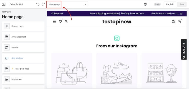 Build your one-product store on Shopify - Homepage design