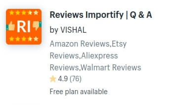 Reviews Importify Shopify App by VISHAL to Import Reviews from Amazon