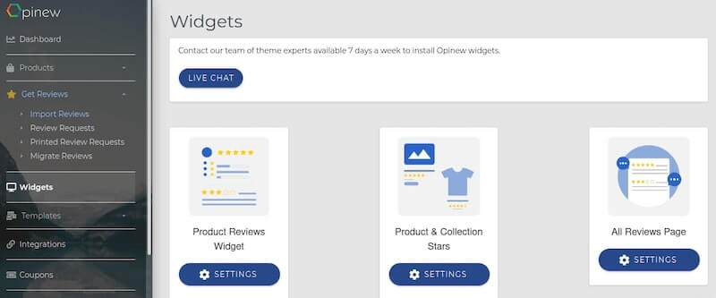 Opinew Product Reviews - Activate Reviews Widgets