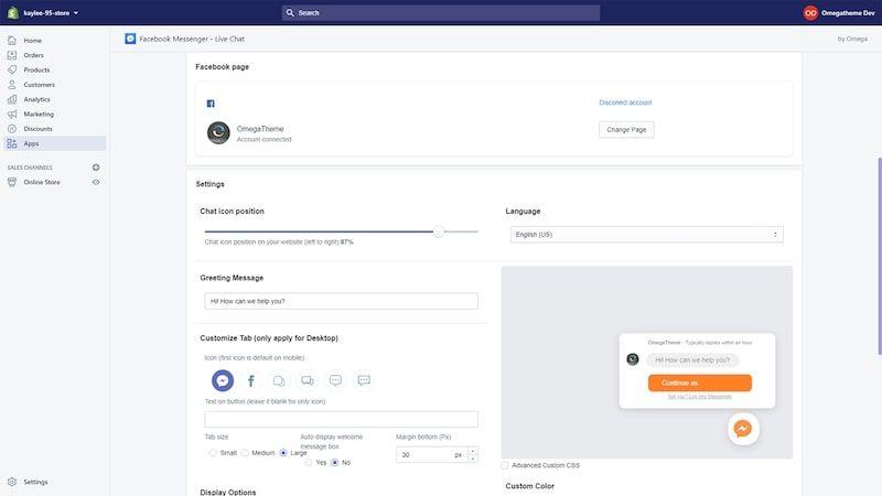 Facebook Messenger - Live Chat