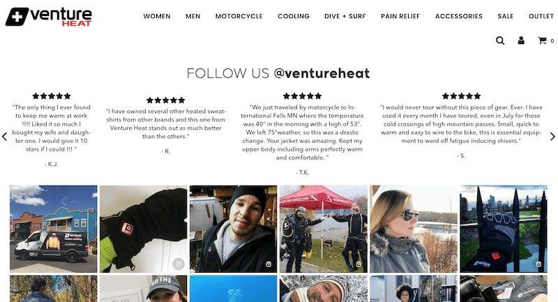 VentureHeat Testimonials Homepage Section